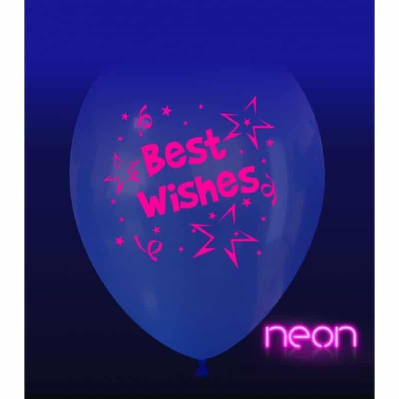 Palloncini auguri - best wishes neon