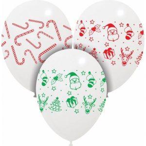 Palloncini natalizi - bianco natale (4 lati)