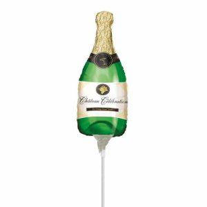 """Palloncini natalizi - bottiglia di champagne minishape (12"""")"""