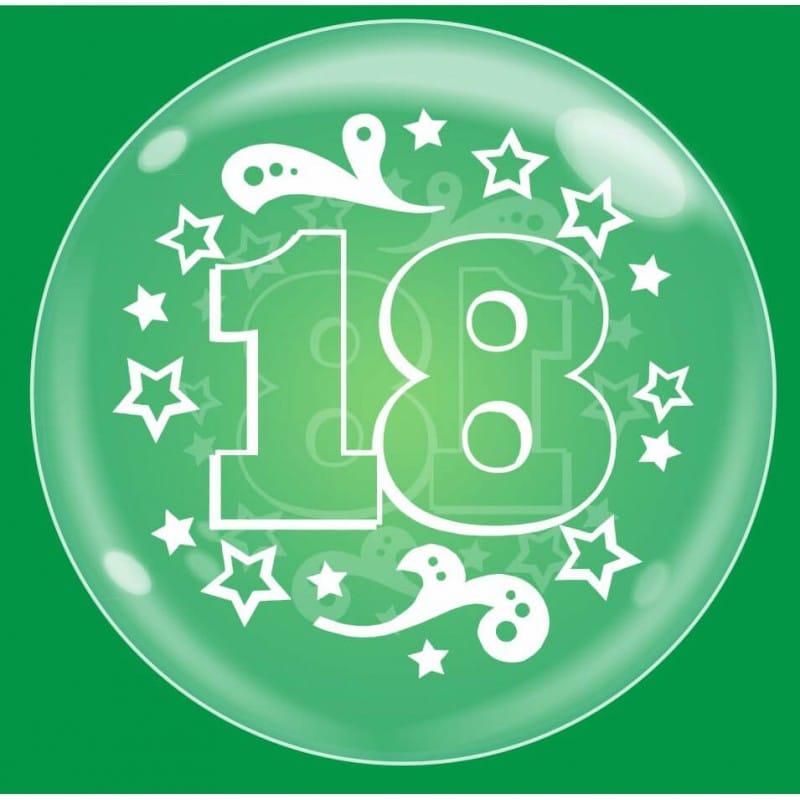 """Palloncini compleanno Bubble Party - 18 Anni (18"""")"""
