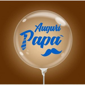 "Palloncini compleanno Bubble Party - Auguri Papà (10"")"
