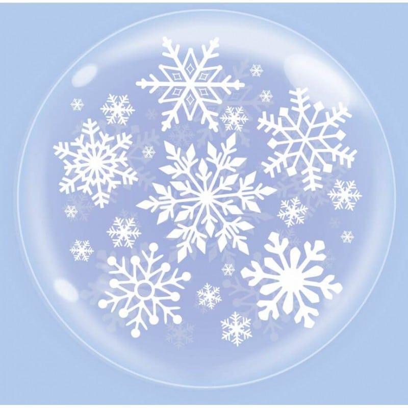 """Palloncini natalizi - bubble party - fiocchi di neve (18"""")"""