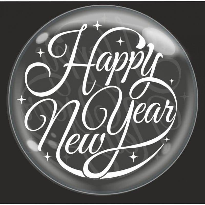 "Palloncini natalizi - bubble party - happy new year (18"")"