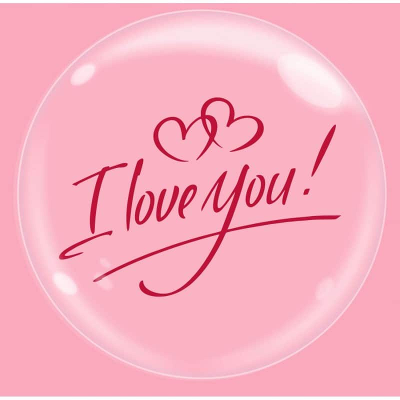"""Palloncini amore - bubble party - i love you (18"""")"""