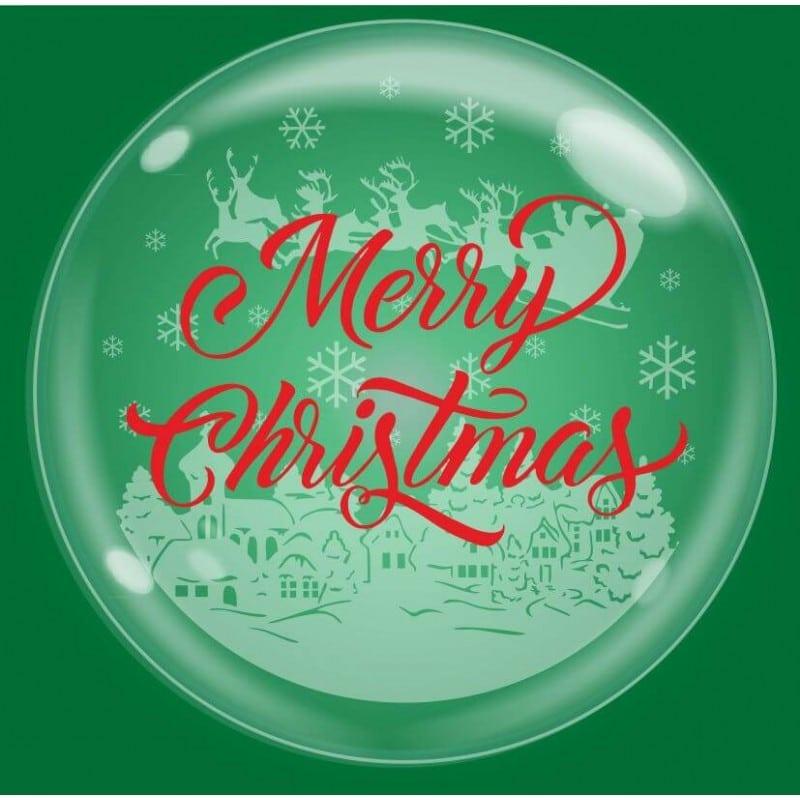 "Palloncini natalizi - bubble party - merry christmas (18"")"