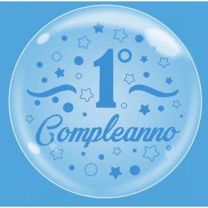"""Palloncini compleanno Bubble Party - Primo Compleanno Celeste (18"""")"""