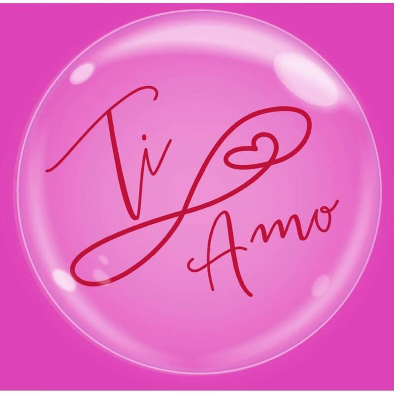 """Palloncini amore - bubble party - ti amo (18"""")"""