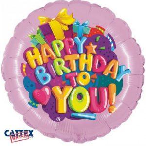 """Palloncini Compleanno - Buon Compleanno Cuoricino (18"""")"""