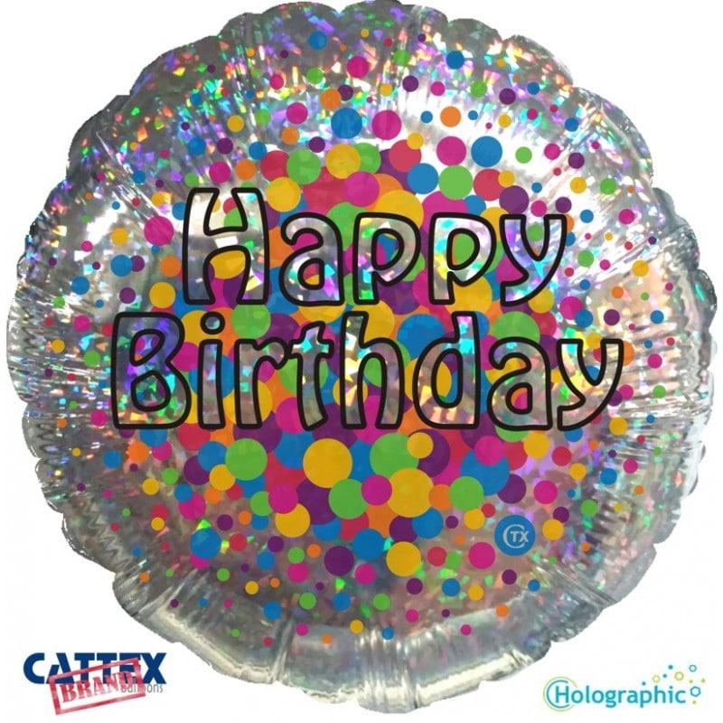 """Palloncini compleanno Buon Compleanno Olografico (18"""")"""