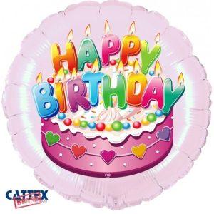 """Palloncini Compleanno - Buon Compleanno Rosa (18"""")"""