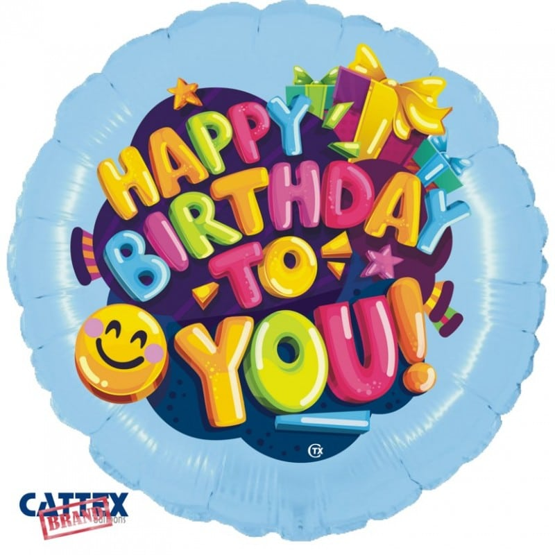 """Palloncini compleanno Buon Compleanno Smile (18"""")"""