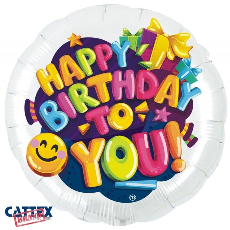 """Palloncini compleanno Buon Compleanno Smile (28"""")"""