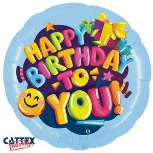 """Palloncini Compleanno - Buon Compleanno Smile (28"""")"""