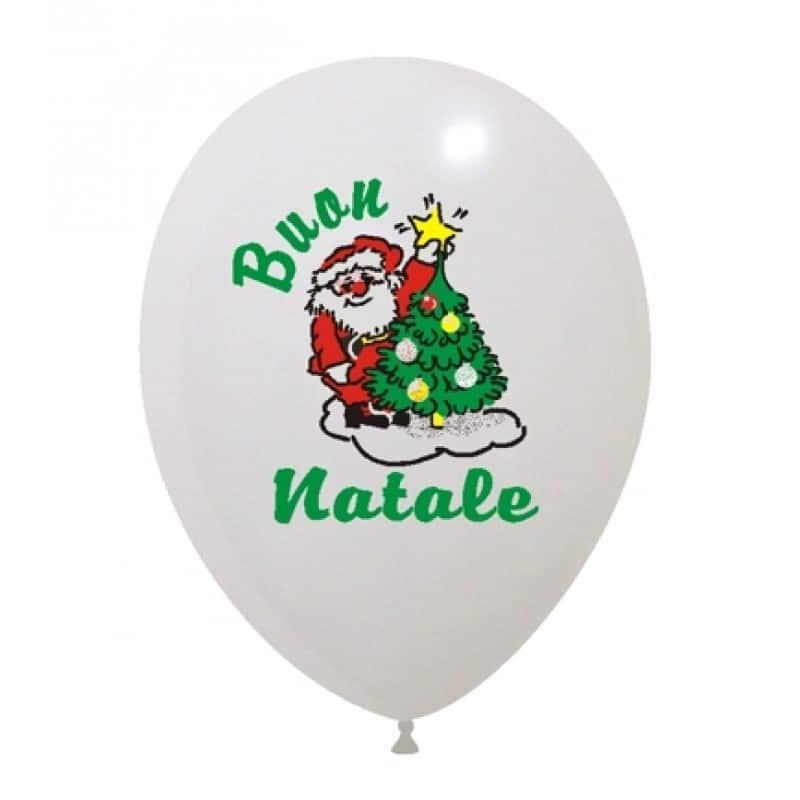 Palloncini natalizi - buon natale 4 colori