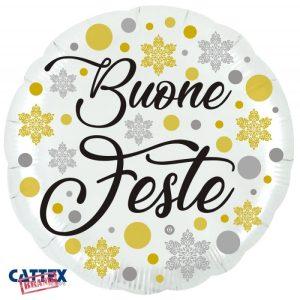 """Palloncini natalizi - buone feste (28"""")"""