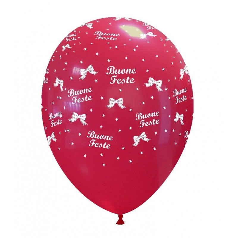 Palloncini natalizi - buone feste (globo)