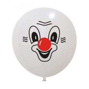 Palloncini facce - clown 2 colori gigante