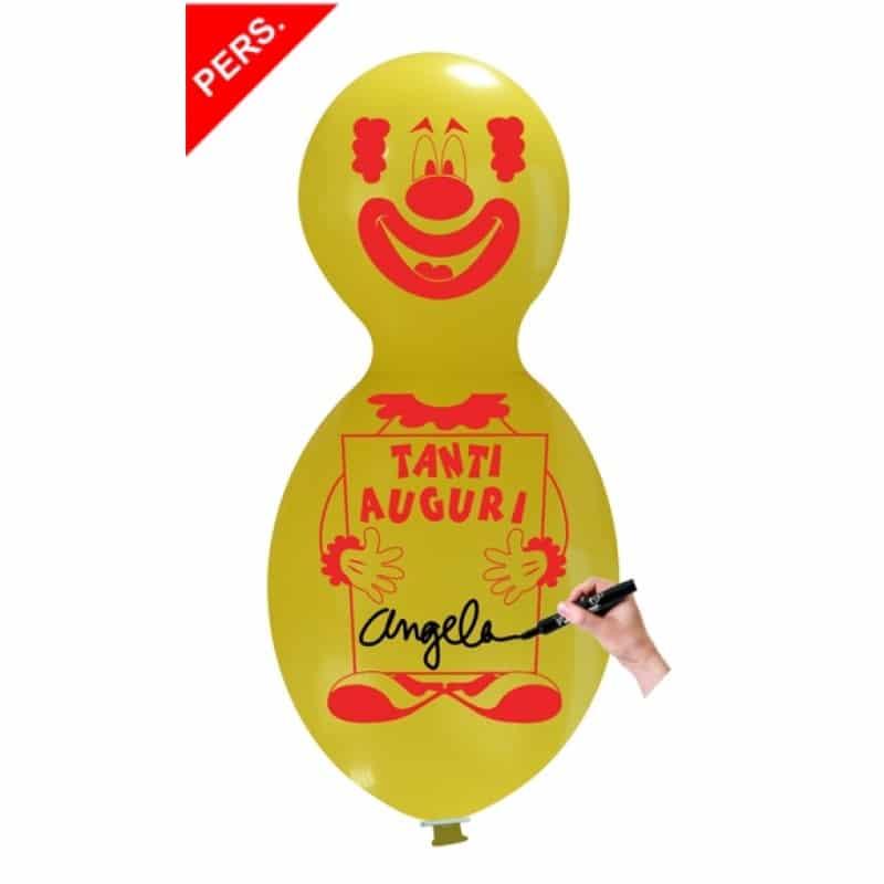 Palloncini auguri - clown auguri