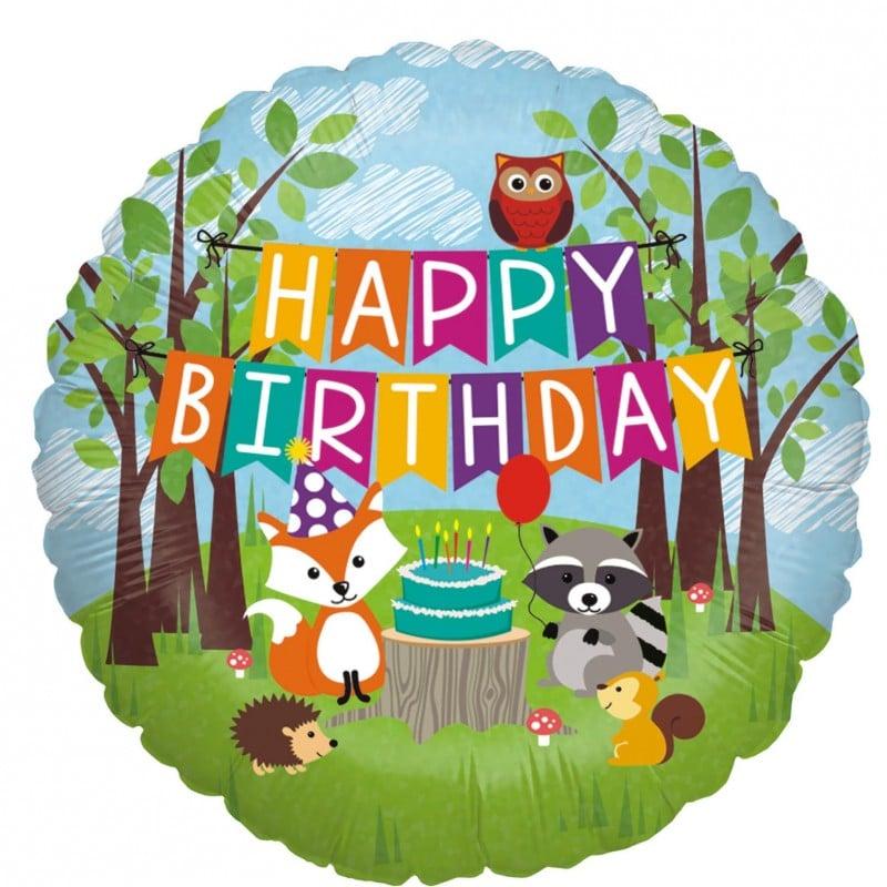 """Palloncini compleanno Compleanno nel Bosco ( 18"""")"""