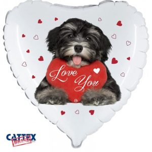 """Palloncini amore - cucciolo love avanese (18"""")"""
