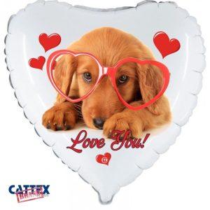"""Palloncini amore - cucciolo love bassotto (18"""")"""