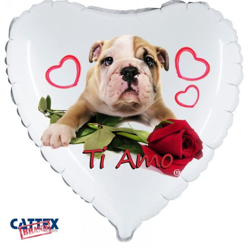 """Palloncini amore - cucciolo love bulldog (18"""")"""