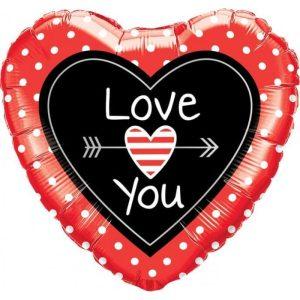"""Palloncini amore - cuore con freccia (18"""")"""
