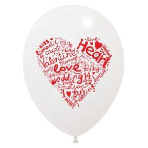 Palloncini amore - cuore fatto di scritte