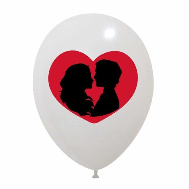 Palloncini amore - cuore innamorati 2 colori