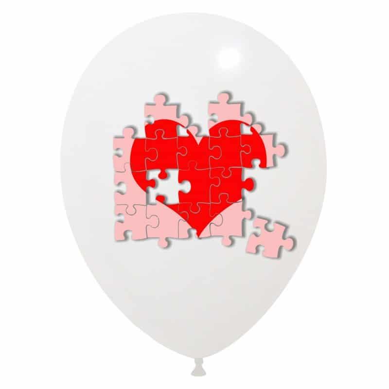 Palloncini amore - cuore puzzle