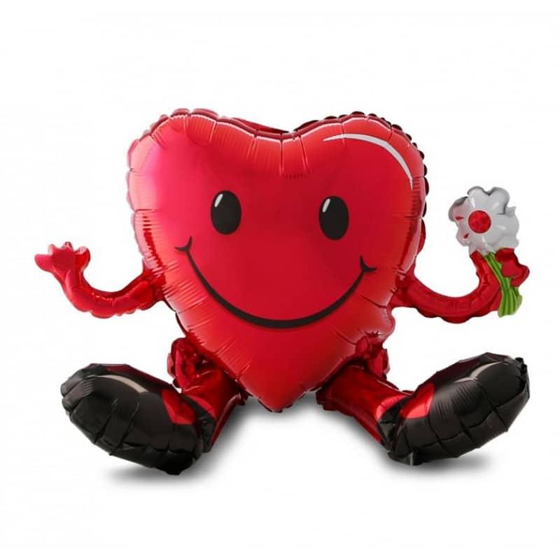 """Palloncini amore - cuore smiley seduto multi-balloon xl® (21"""")"""