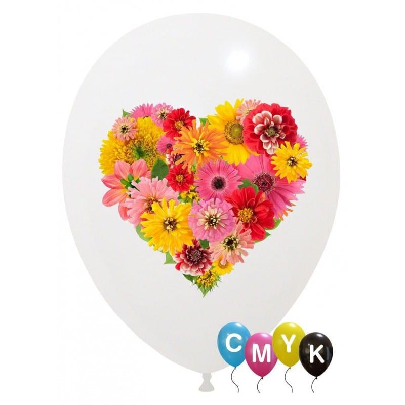 Palloncini amore - cuore di fiori - full color (cmyk)