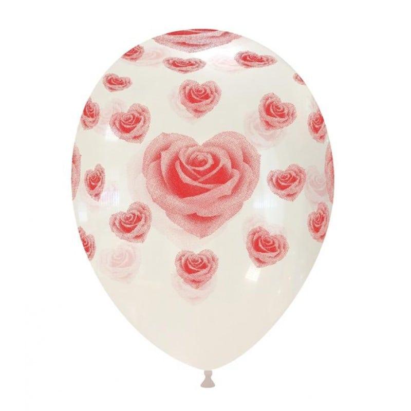 Palloncini amore - cuori di rose