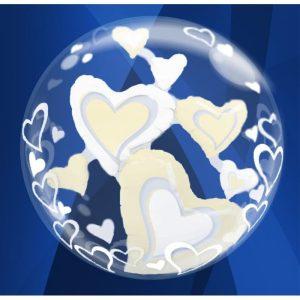 """Palloncini amore - cuori double-bubble (24"""")"""