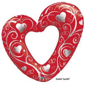 "Palloncini amore - cuori & filigrane supershape (42"")"