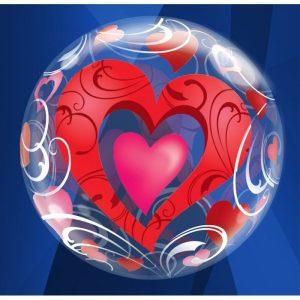 """Palloncini amore - cuori rossi (22"""")"""