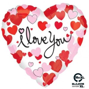 """Palloncini amore - cuoricini i love you cuore hexl® (18"""")"""