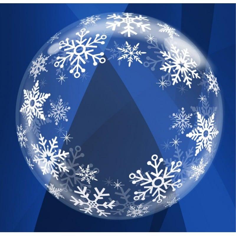 """Palloncini bubbles - deco bubbles fiocchi di neve (24"""")"""