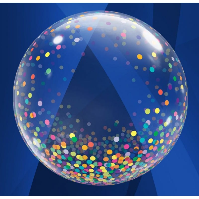 """Palloncini bubbles - deco bubbles pioggia di coriandoli multicolor (24"""")"""