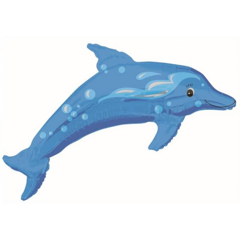 "Palloncini animali - delfino blu supershape (42"")"