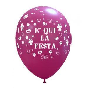 Palloncini festa - e qui la festa (globo)