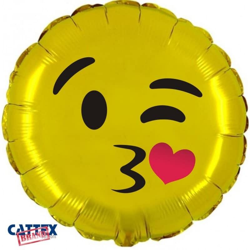 "Palloncini amore - emoji bacio (18"")"