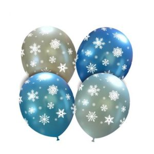 Palloncini natalizi - fiocchi di neve ghiacciati