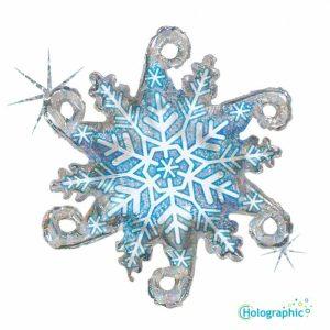"""Palloncini natalizi - fiocco di neve concatenabile (38"""")"""