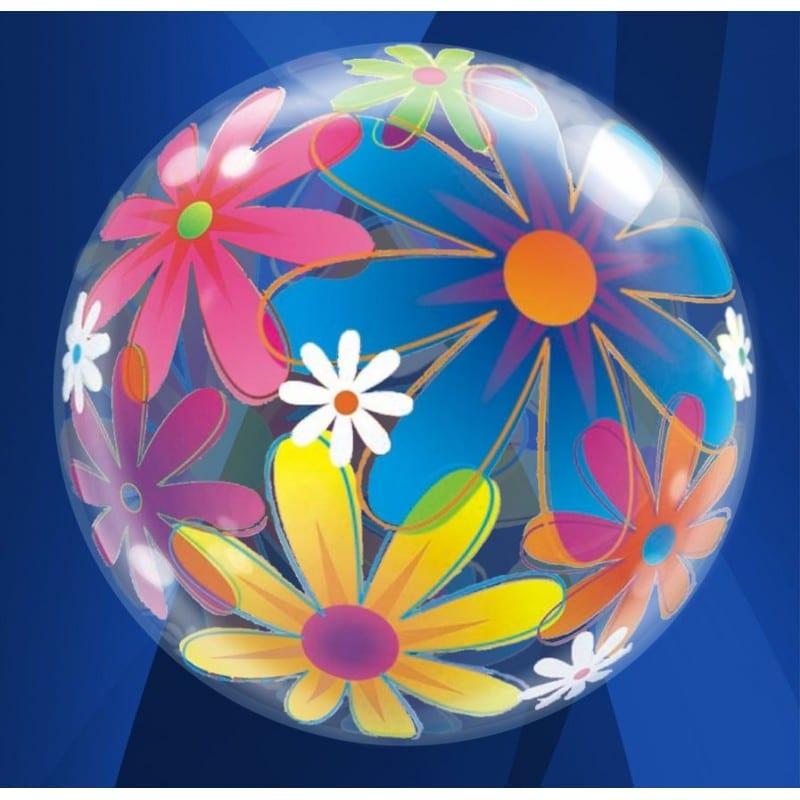 """Palloncini bubbles - fiori (22"""")"""