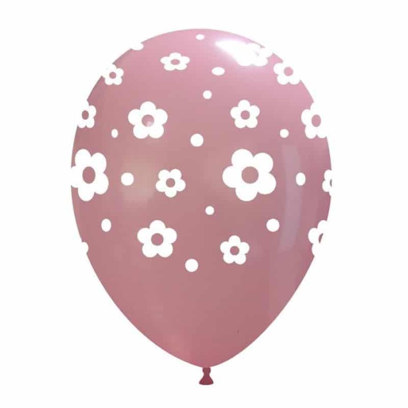 Palloncini stampa globo - fiori grandi
