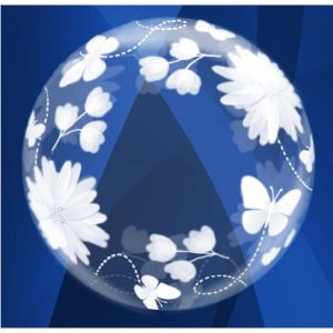 """Palloncini bubbles - fiori e farfalle deco-bubble (20"""")"""