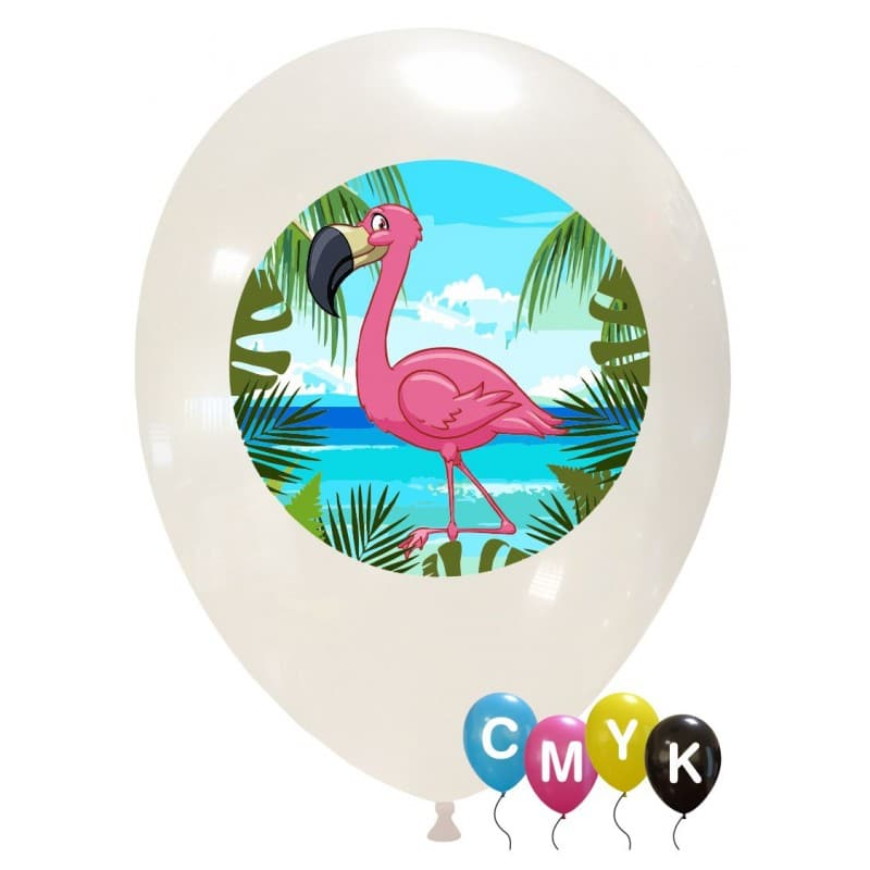 Palloncini animali - flamingo - full color (cmyk)