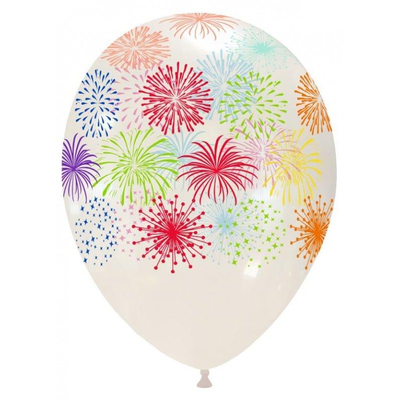 Palloncini stampa globo - fuochi artificiali (multicolor)