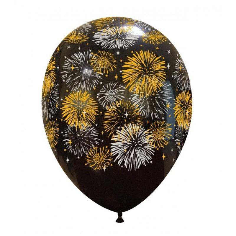 Palloncini stampa globo - fuochi d artificio 2 colori